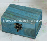 포도 수확 색깔로 포장을%s 고대 우아한 완료 나무 상자