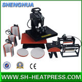 Venta caliente combinada todos en una máquina del traspaso térmico para las tazas y las placas de los casquillos de las camisetas