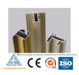 Profil en aluminium d'extrusion d'usine de la Chine pour la porte de guichet en verre