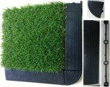 Alta qualità DIY che collega le mattonelle artificiali dell'erba
