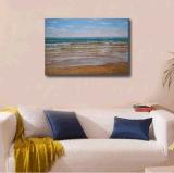 浅瀬の波の油絵