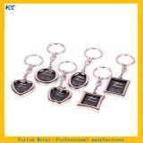 Helles Silber überzogener Foto-Rahmen Keychain