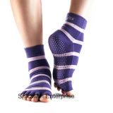 Il commercio all'ingrosso personalizza i calzini antisdrucciolevoli di yoga dell'interno di alta qualità