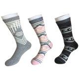 Halbe Kissen-Baumwollform-Zeichen-Sport-Schwarz-Socken (JMCC09)