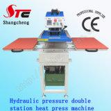 T-shirt de pression hydraulique machine d'impression Double station de transfert de chaleur machine Stc-Yy01