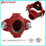 Cruz mecánica roscada aprobación de la UL de FM para la tubería de la protección contra los incendios