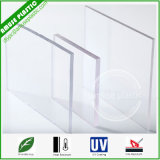 Folha resistente do risco Ten-Year quente transparente do policarbonato da garantia do Sell com UV