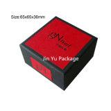 Cajas de embalaje de la joyería de papel del regalo de Sequare de la tapa y de la parte inferior para el anillo