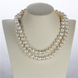 11-12mm Forma de batata White Pearl Fashion Necklace