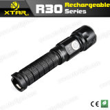 Camping、Daily Used (XTAR R30)のための専門のHigh Lm Rechargeable Flashlight