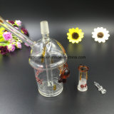 Mini Oil Rig Glass Water Pipe Glass com tubo de vidro de junção macho de 14mm
