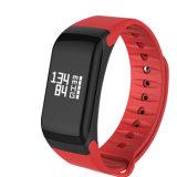 Intelligente Puls-Monitor-Blut-Sauerstoff-Druck-Armband-Eignung-Verfolger-Pedometer-Anzeigen-Kalorien des Band-F1 für androiden IOS