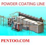Línea de pintura del equipo de la capa del polvo de la alta calidad para el tratamiento previo