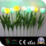 Materielles LED Tulpe-Licht Garten-Dekoration PU-