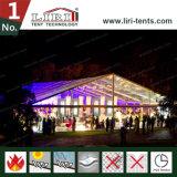 Tende trasparenti di lusso per la festa nuziale, tenda foranea trasparente per la festa nuziale