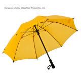 섬유유리 프레임 늑골을%s 가진 경량 접히는 우산 골프 우산