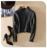suéter puro hecho punto 3gg de la tapa de la cachemira del suéter con el cuello de equipo y las fundas largas