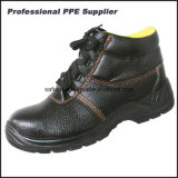 Altos zapatos de la seguridad en el trabajo del tiempo de trabajo del tobillo del cuero genuino
