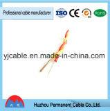 Cabo verde e vermelho de Rvs do twisted pair da isolação do PVC