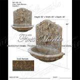 大理石の石造りの花こう岩の噴水のGiallo Marroneの壁泉Mf772