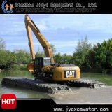 Amphibisches Excavator mit Pontoon in The Water Jyp-149