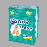 柔らかいNon-Woven上シートの赤ん坊のおむつ