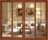 Portello di legno di alluminio interno del portello scorrevole del Guangdong