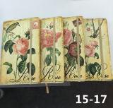 Cuaderno impreso de la agenda de la cubierta del cuero de la PU con el encierro elástico de la correa