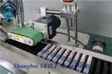 円柱プラスチック管の水平のタイプ付着力のステッカーの分類機械