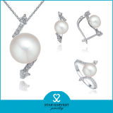 Modo Silver Pearl Wedding Jewelry Made in Cina (J-0081)