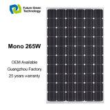 265W Energía Renovable Solar Mono Panel Solar Fotovoltaico