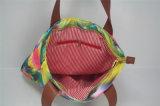 2016 de Nieuwe Polyester van de Druk van het Ontwerp Kleurrijke Dame Handbag