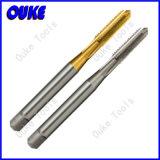 錫によって塗られるDIN371 HSS螺線形ポイント機械蛇口