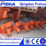 Macchine di granigliatura della piattaforma girevole per il rinforzo del mozzo di rotella