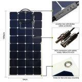 2017 bon haut panneau solaire semi flexible 18V de performance des prix 100W