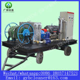 Máquina de alta pressão da limpeza da tubulação do motor Diesel