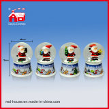 Figures sveglio Glass Water Globe Printed Base con il LED Lights