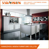 White Linear Style Lacquer Kitchen Cabinet