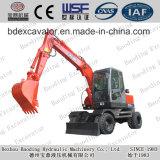 Excavatrices rouges de roue de machines de Baoding petites avec le GV