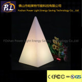 현대 색깔 변화 장식 피라미드 빛 LED 테이블 램프