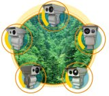 3km de Dubbele Camera van de Veiligheid van het Brandalarm van de Sensor Thermische (TTVC4307-1920)
