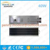 IP68 5W-120W 정원을%s 원격 제어를 가진 통합 LED 태양 거리 센서 빛