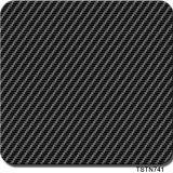 Película hidrográfica vendedora popular Tsth790-5 de la impresión del Aqua de las películas de la impresión de la transferencia del agua de los modelos de la fibra del carbón de la anchura de Tsautop los 0.5m