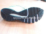 Couleurs vert clair en gros exécutant des chaussures de sport de femmes d'hommes