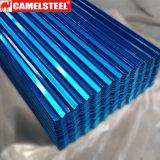 Feuille ondulée en acier galvanisée de toiture enduite par couleur