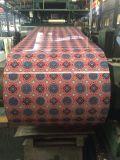Material de construcción de acero de la decoración de PPGL en la impresión y Caoting del diseño de las flores