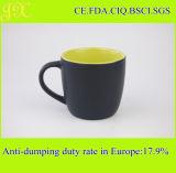 tasse de café 310ml en céramique multicolore, tasse noire de Matt