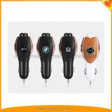 Auto-Aufladeeinheit mit zwei umschaltbaren USB-Kanälen und Stereogeräuschen, die Bluetooth Kopfhörer beenden
