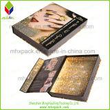 Papel plegable promocional Forma libro Caja de empaquetado cosmético