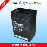 Batería recargable de plomo Emergency de la batería 6V 5.0ah